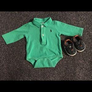 Ralph Lauren Cotton Polo Bodysuit & Shoes